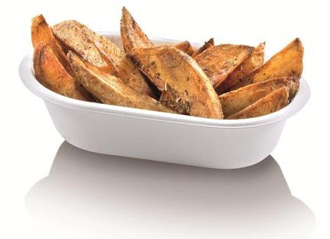 Zuckerrohr Pommes-Schale Take Away, 18 x 11 x 4,3 cm