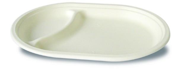 Chinagras Teller oval 2-teilig