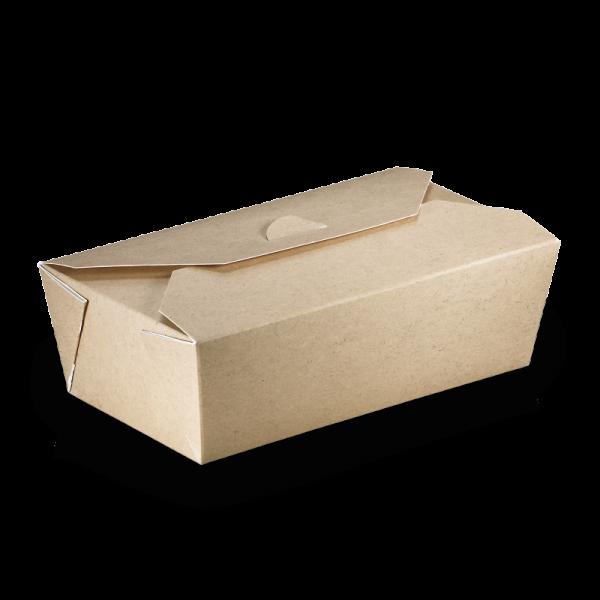 naturesse Take away Box mit PLA-Beschichtung braun/weiß 160x90x60mm 1000ml