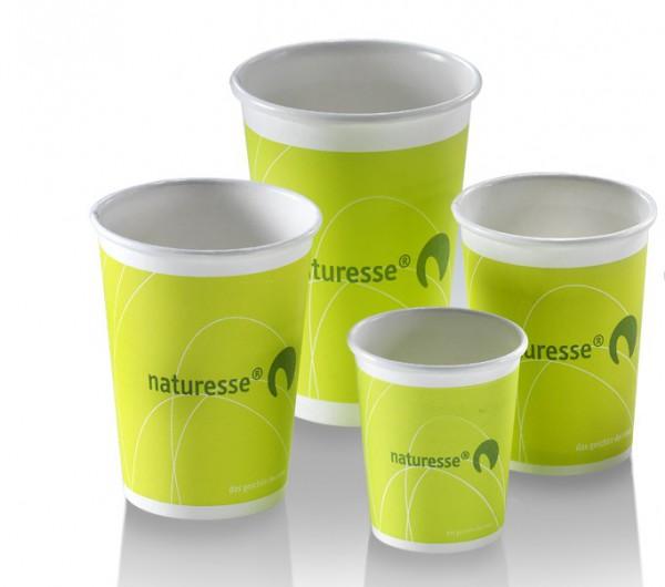 Glühwein & Kaffee Kartonbecher Naturesse grün 0,2 l
