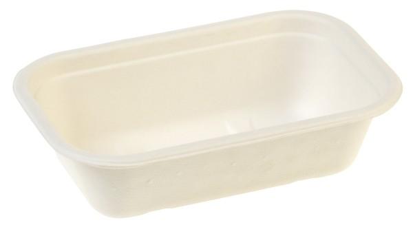 Salatschale rechteckig, 650 ml, 20,5x13,0cm, 5,6cm tief, weiß