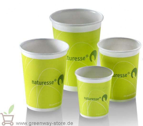 Kaffee- Kartonbecher Logo Naturesse grün 0,3 l