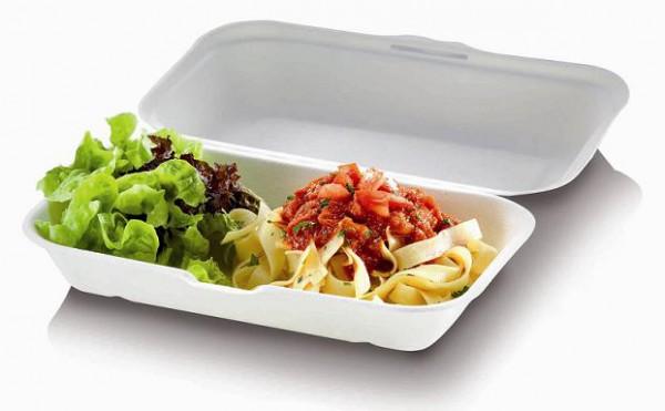 Zuckerrohr Food Box XL mit Klappdeckel 23,5x19,5cm, 7,5cm tief