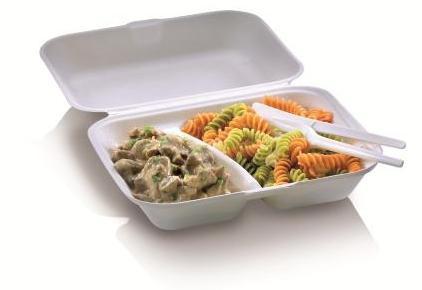 Zuckerrohr Food Box mit Klappdeckel