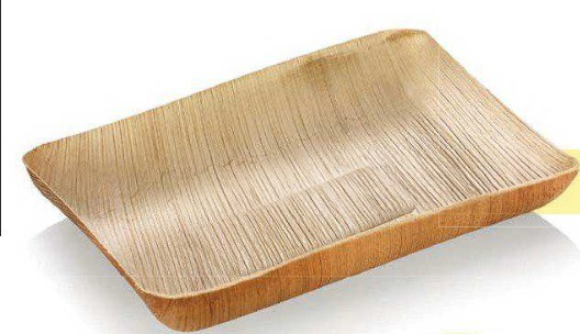Palmblatt-Tray rechteckig 17 x 13,5 cm, Tiefe 2,5 cm - Cargese
