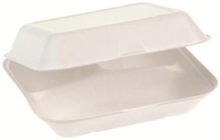 Zuckerrohr Food Box mit Klappdeckel 3-teilig 23,5 cm x 19,5 cm, 7,5 cm tief