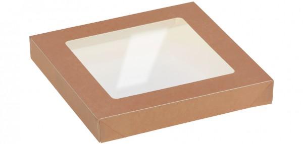 Deckel mit Sichtfenster zu Kartonbox 1500ml - 170x170mm