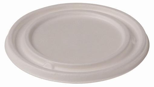 Zuckerrohr Deckel für Suppenbecher , 425 ml, 8,5 cm tief