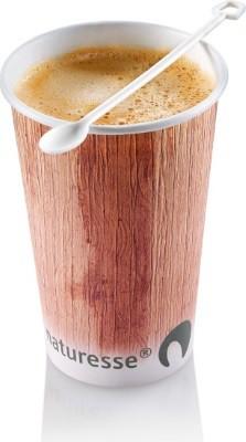 Kaffee Kartonbecher Palmblatt-Druck - 0,4 l