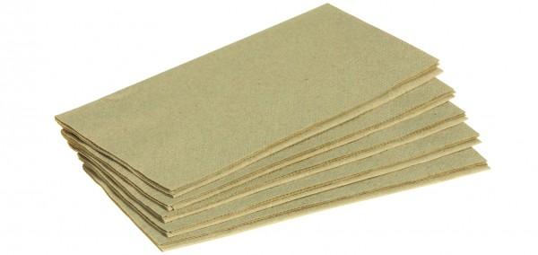 Serviette braun Recycling 33x33cm 2-lagig 1/8 Buchfalz