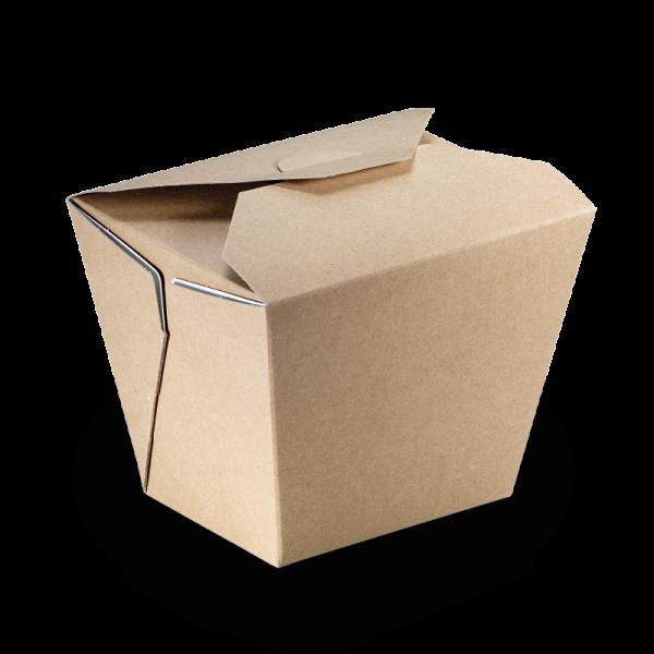 naturesse Take away Box mit PLA-Beschichtung braun/weiß 85x65x90mm 700ml